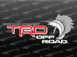 TRD OFF ROAD Sailfish Decals | Toyota Truck and Car Decals | Vinyl Decals