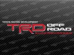 TRD OFF ROAD SUPERCHARGED Decals | Toyota Truck and Car Decals | Vinyl Decals