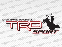 TRD SPORT Bull Cowboy Decals | Toyota Truck and Car Decals | Vinyl Decals
