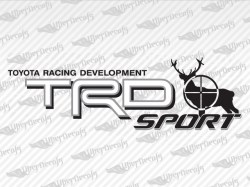 TRD SPORT Deer Hunter Decals | Toyota Truck and Car Decals | Vinyl Decals