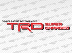 TRD SUPERCHARGED Decals | Toyota Truck and Car Decals | Vinyl Decals