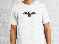 AVENGED SEVENFOLD BAT SKULL | Mens | T-shirt Vinyl