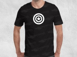 AVENGERS CAPTAIN AMERICA SHIELD | Mens | T-shirt Vinyl