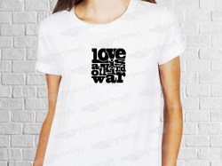 Love is a kind of war logo | Womens | T-shirt Vinyl