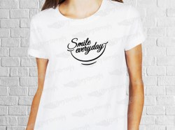 Smile everyday phrase desing | Women's T-shirt | Heat Press Vinyl