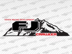 FJ CRAWLER Mountain Decals | Toyota Truck and Car Decals | Vinyl Decals
