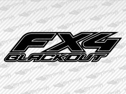 FX4 BLACKOUT Decals | Ford Truck and Car Decals | Vinyl Decals