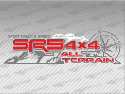 SR5 4X4 ALL TERRAIN Mountain Compass Decals | Toyota Truck and Car Decals | Vinyl Decals
