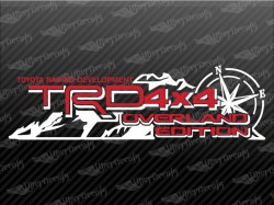 TRD 4 X 4 OVERLAND EDITION Mountain Compass Decal | Toyota Truck and Car Decals | Vinyl Decals