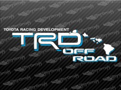 TRD OFF ROAD HAWAI Decals | Toyota Truck and Car Decals | Vinyl Decals