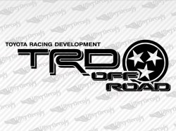 TRD OFF ROAD TENNESSEE Decals | Toyota Truck and Car Decals | Vinyl Decals