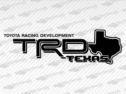 TRD TEXAS Decals | Toyota Truck and Car Decals | Vinyl Decals