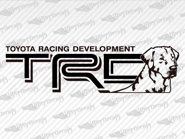 TRD Lab Dog Decals | Toyota Truck and Car Decals | Vinyl Decals