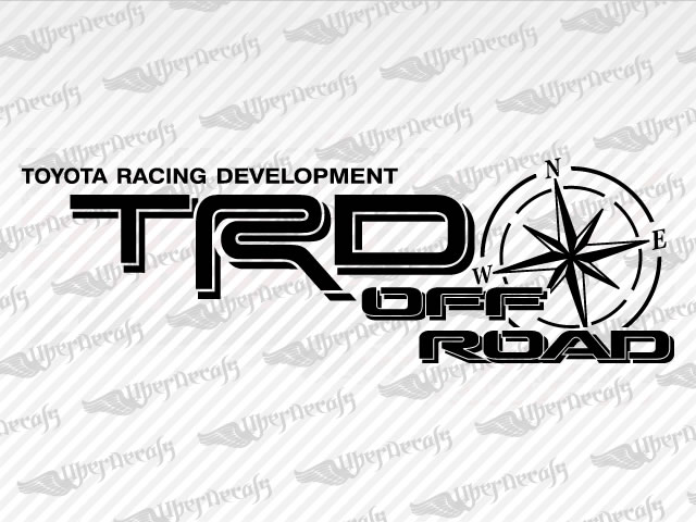 toyota trd off road compass decal stickers